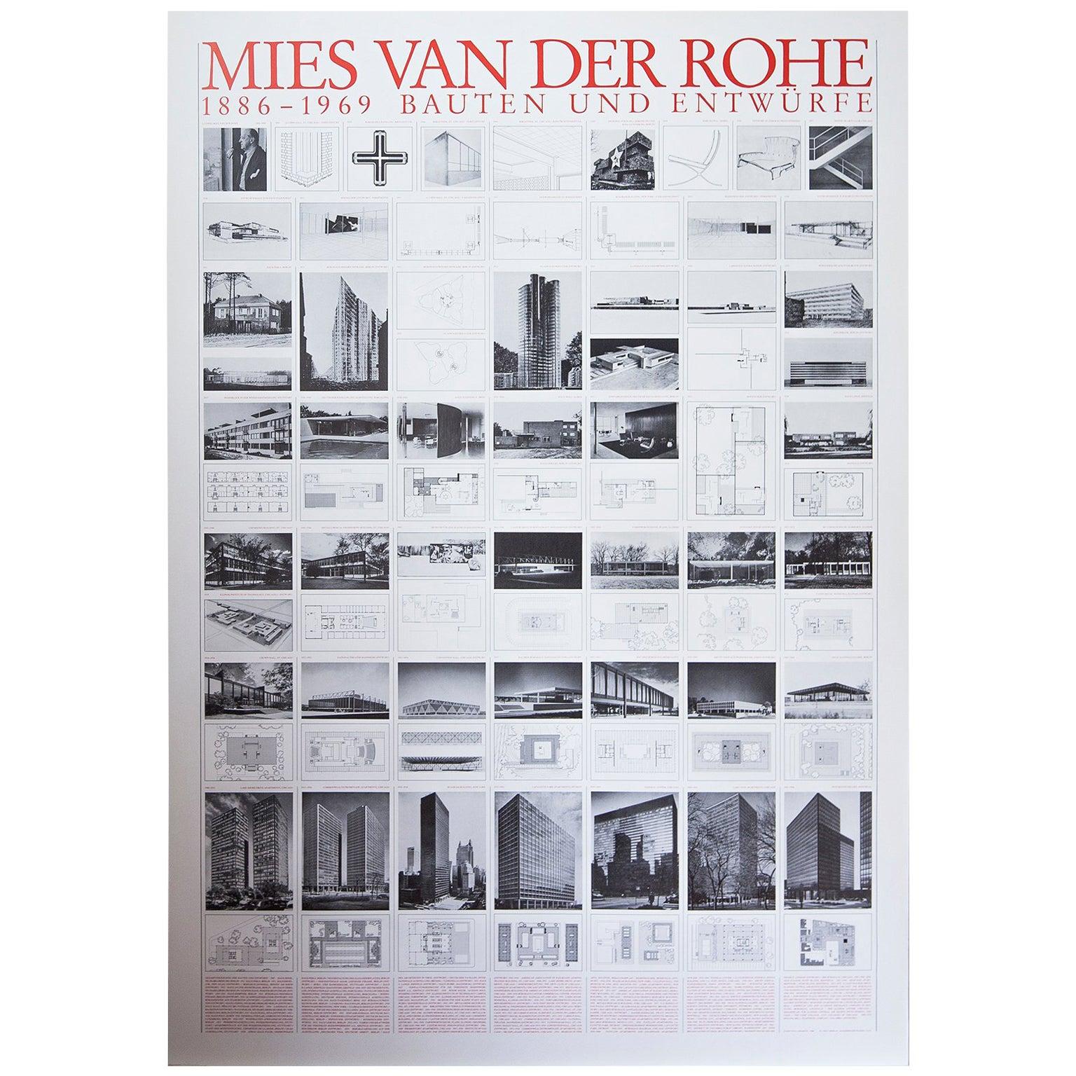 Mies Van Der Rohe Design Philosophy.Mies Van Der Rohe Bauhaus Buildings And Design 1886 1969 Poster