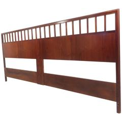 Mid-Century Modern Walnut King-Size Headboard