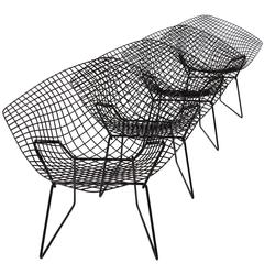 Set of Four Diamond Chairs by Harry Bertoia for Knoll