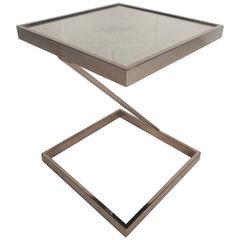 Mid-Century Modern Milo Baughman Style End Table