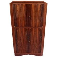 Art Deco Drink Cabinet Bar Ebene De Macassar Full Mahogonie