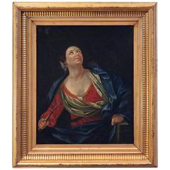 Baroque Oil Painting of Lucretia, Italy, circa 1600