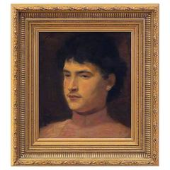 Impressionistic Painting of a Young Man, circa 1880