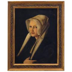 Old Master Painting of a Nun