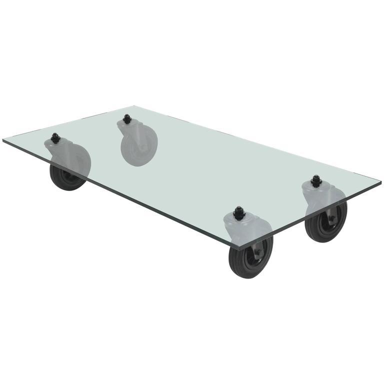 Gae aulenti tavolo con ruote coffee table by fontana - Tavolo con ruote gae aulenti ...