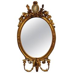 Stunning Regency Oval Gilt Girondelle Mirror