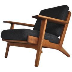 Pair of Original Hans J Wegner ge290 Lounge Chair