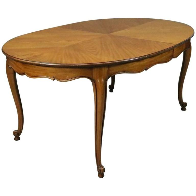 Kindel S Borghese Cherry French Country Louis Xv Dining Table Three Leaves For