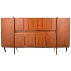 Very Rare Monumental Ico Parisi Cabinet, Italy, 1950s