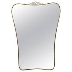 Mid-Century Modern Sculptural Italian Mirror