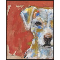 Large Glicee Print on Canvas of a Dog
