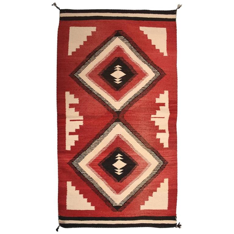 Antique Navajo American Indian Rug For Sale At 1stdibs