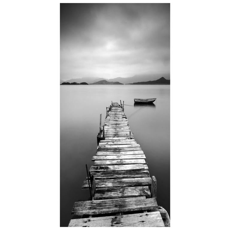 Large Weathered Dock Photo on Plexiglass 1