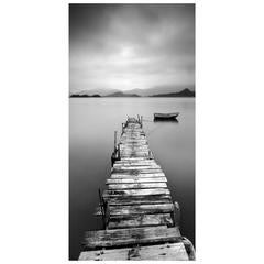 Large Weathered Dock Photo on Plexiglass