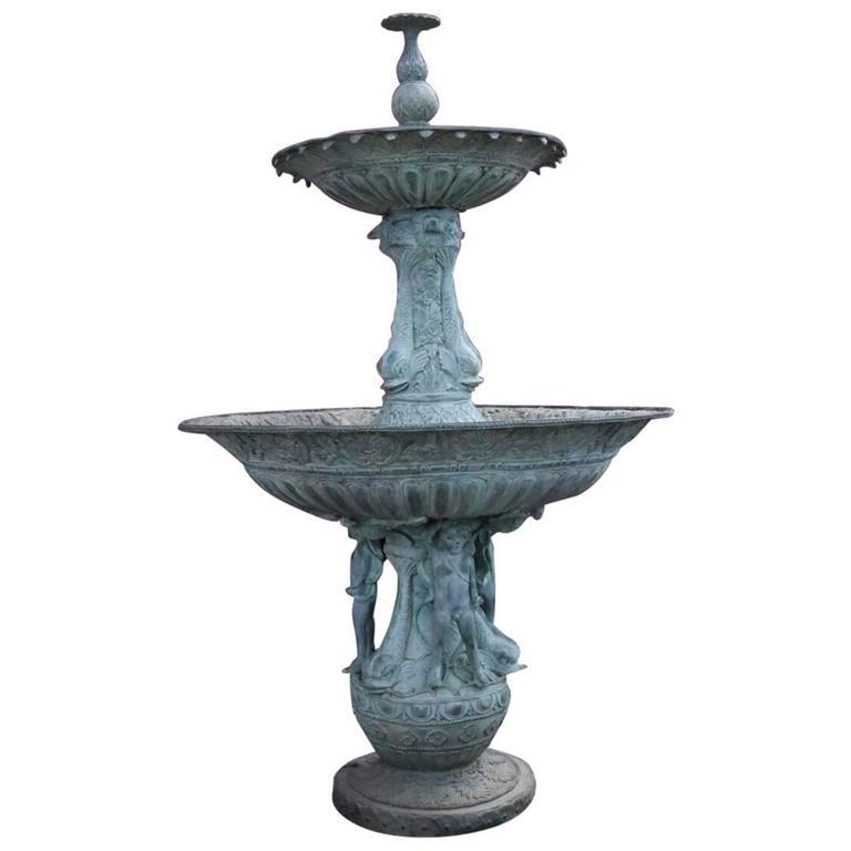 Volterra Two Tier Fountain With Tall Base - Garden