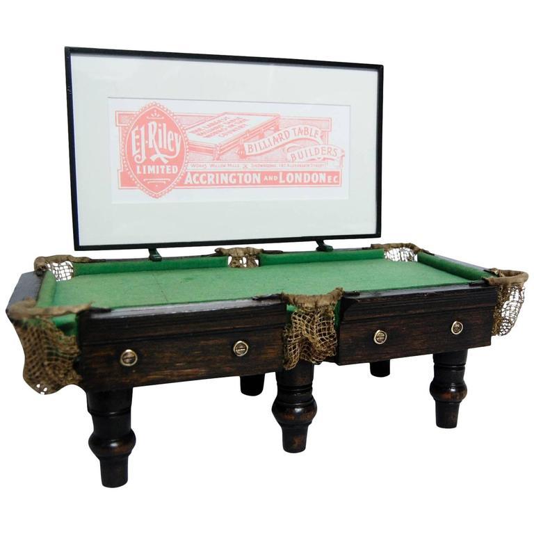 Miniature Billiards Table Shop Advertising