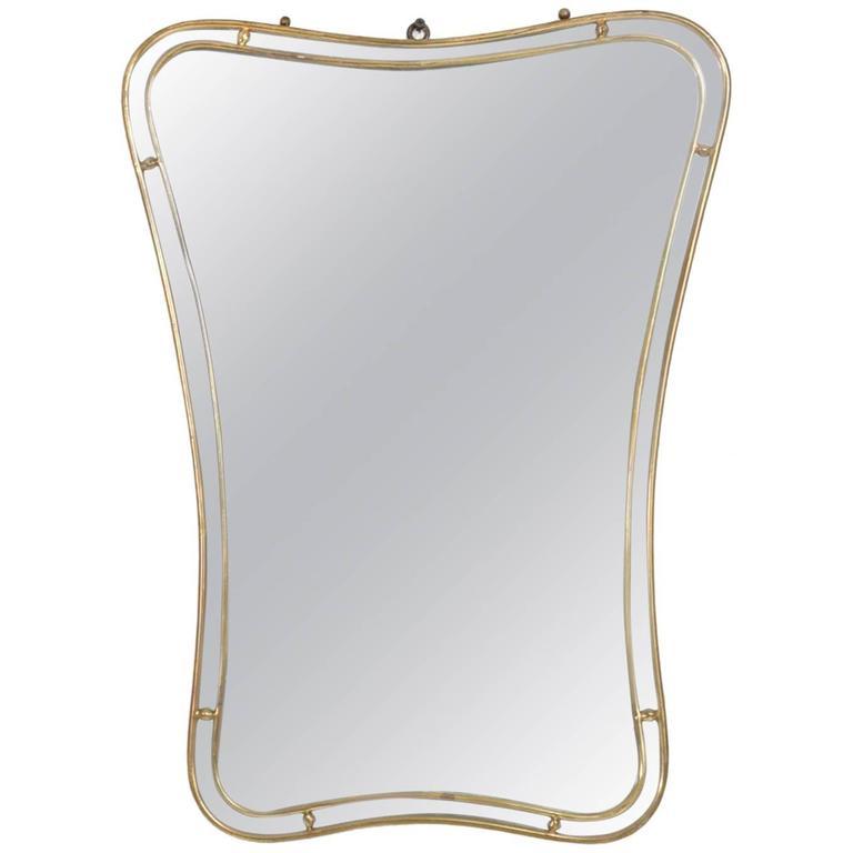 Mid-Century Modern Italian Mirror #2 Brass Band