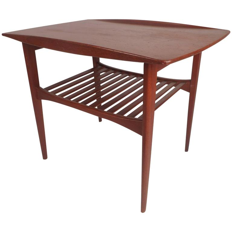 Mid Century Modern Danish Teak End Table By Edvard And Tova Kindt