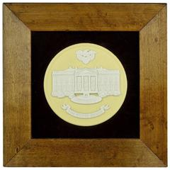 Vintage Wedgwood White House Plaque