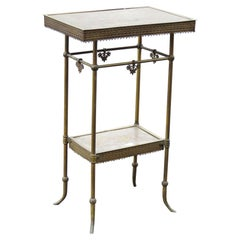 Aesthetic Victorian Decorative Metal Side Table