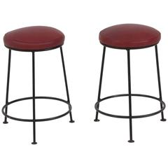 Pair of French Mid-Century Modern Stools, 1960s