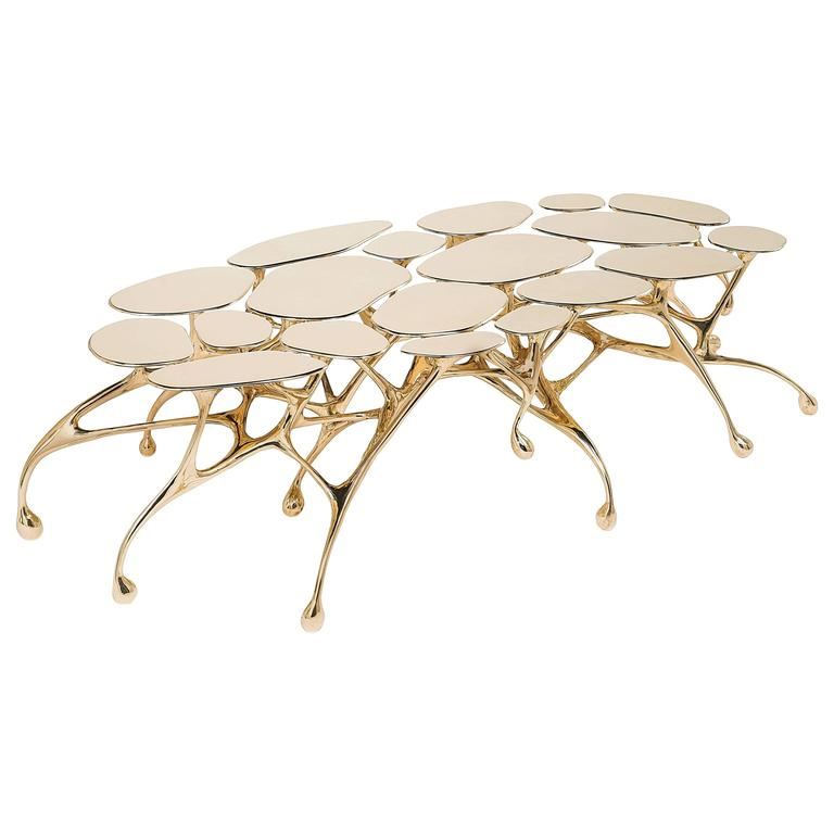 Brass Coffee Table/Accent Table by Zhipeng Tan 2