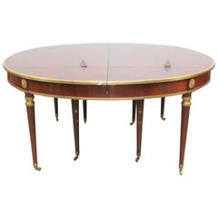 Jansen Brass Mounted Eight Legged Dining Table