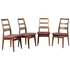 "Svante Skogh Teak Chairs ""Rosetto"" Scandinavian Modern"