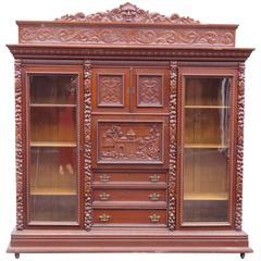 Monumental R.J. Horner Double Sided Bookcase Abbatant Desk