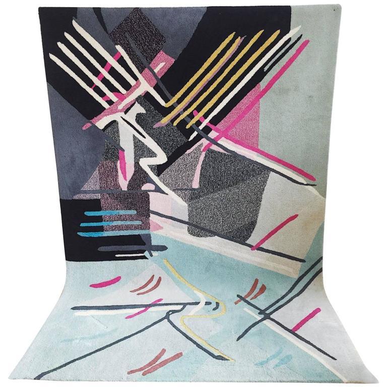 1980s Modern Abstract Area Rug At 1stdibs