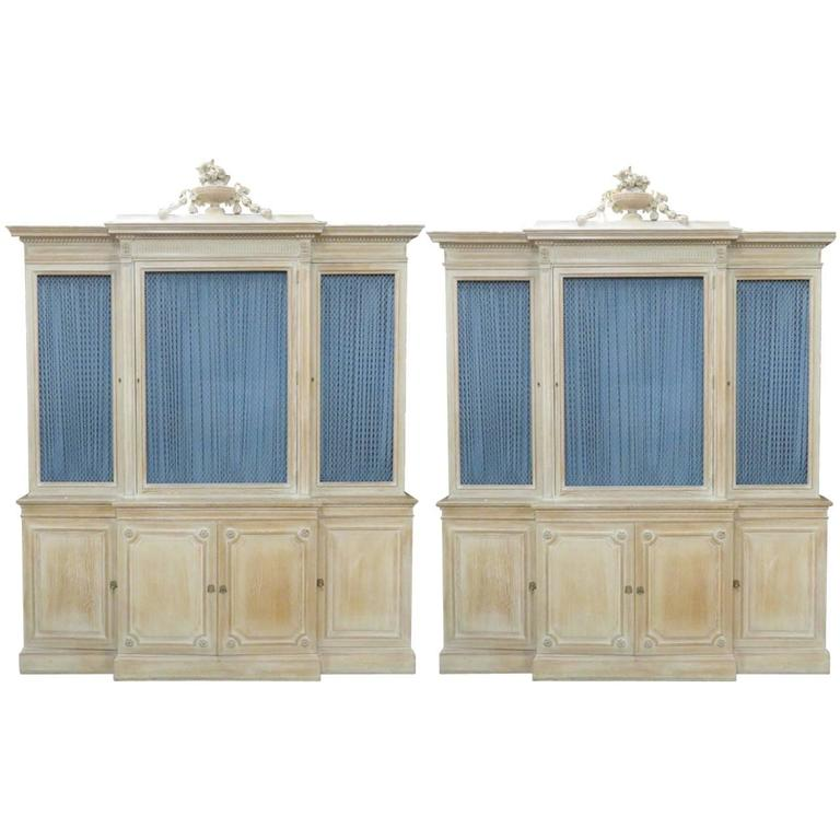 Pair of maison jansen regency style bibliotheque breakfront for sale at 1stdibs - Bibliotheque 9 cases ...