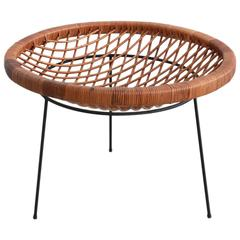 Umanoff Style Wicker and Iron Table