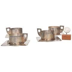 Midcentury Prata 90 Silverplated Mini Espresso Cups by Wolf, Brazil, 1960s