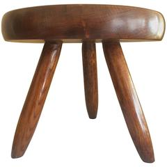 Charlotte Perriand Tripod Ash Tree Stool