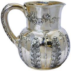 Tiffany Chrysanthemum Sterling Silver Pitcher