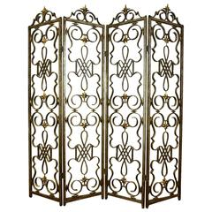 Gilbert Poillerat Style Wrought Iron Screen