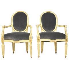 Pair of 18th Century Italian Louis XVI Chairs