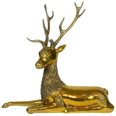 Vintage Sarreid Brass Deer