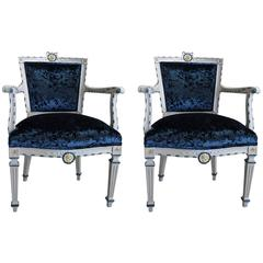 Pair of Italian Armchairs, 19th Century