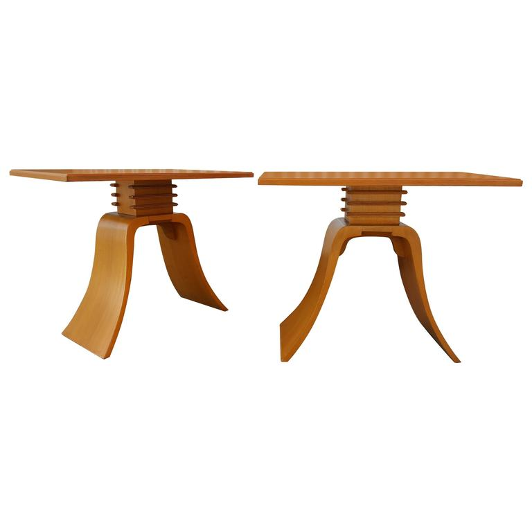 """Paul Frankl """"Bell"""" End Tables"""