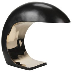 Nautilus Study Table Lamp in cast bronze, signed, 2020 by Christopher Kreiling