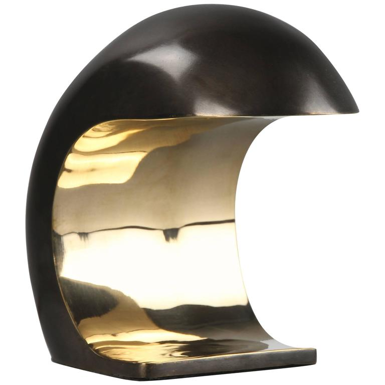 Nautilus Desk Lamp in Bronze by Christopher Kreiling For Sale