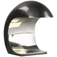 Nautilus Desk Lamp in White Bronze by Christopher Kreiling