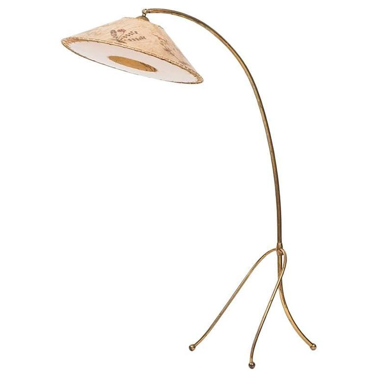 1940s Floor Lamp with Adjustable Shade