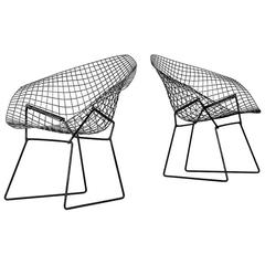 Harry Bertoia Diamond Easy Chairs by Knoll in America