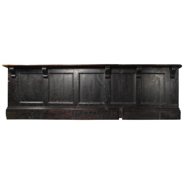 Kitchen Island Kickboard: Victorian Ebonized Pine Shop Counter Kitchen Island At 1stdibs