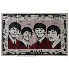 Beatles Irish Linen Tea Towel Souvenir 1964