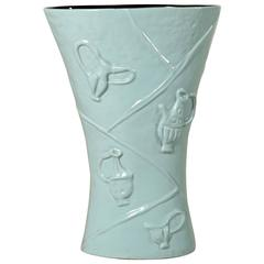 Ceramic Vase/Umbrella Stand by Campi for Società Ceramica Italiana Laveno, 1950s