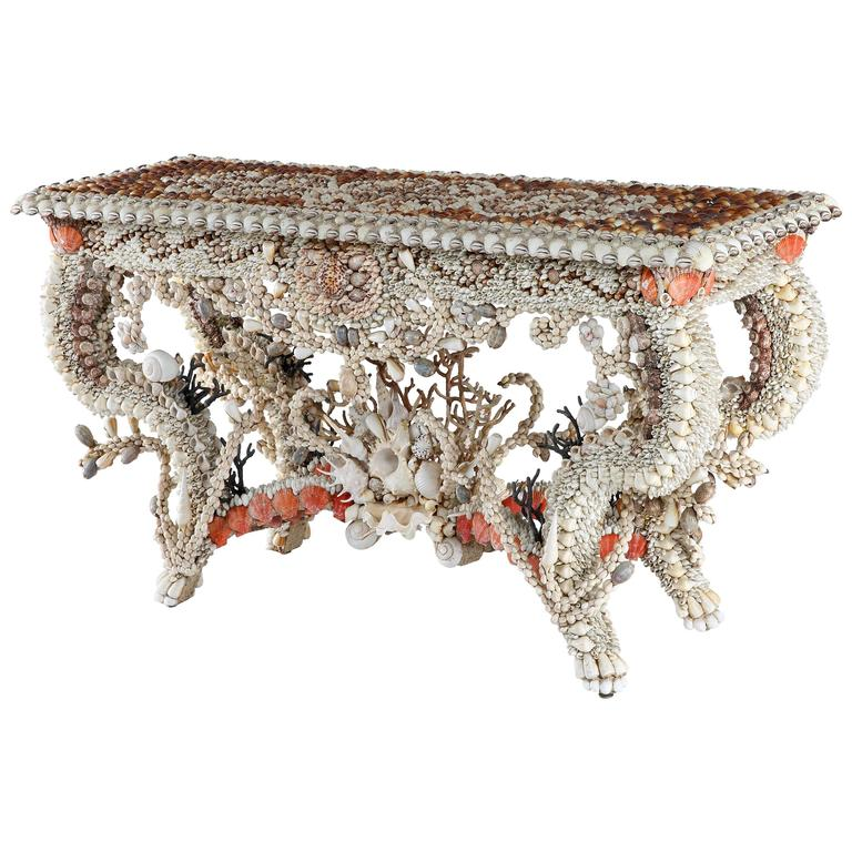 Shellwork Side Table by J. Antony Redmile 1