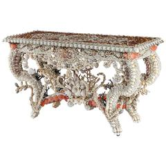 Shellwork Side Table by J. Antony Redmile